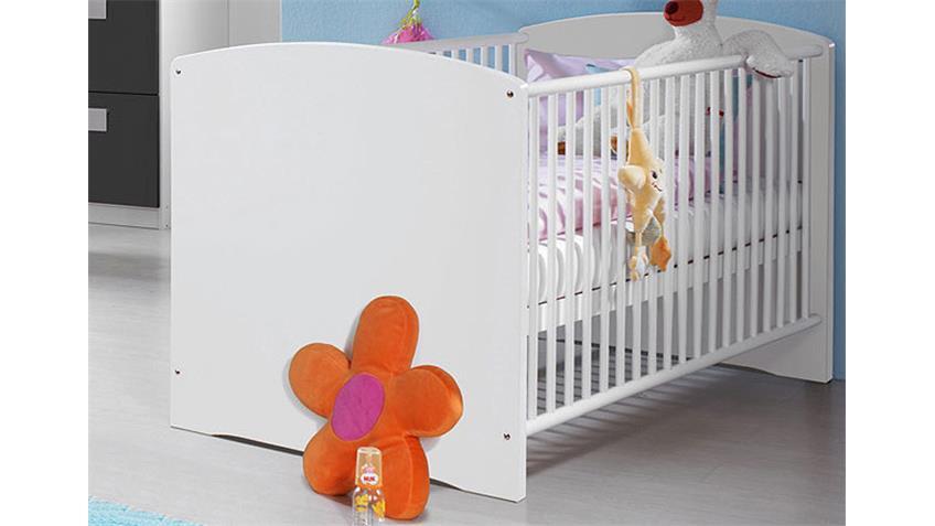 Babyzimmer III SKATE 3-teilig in Alpinweiß und Grau-Metallic