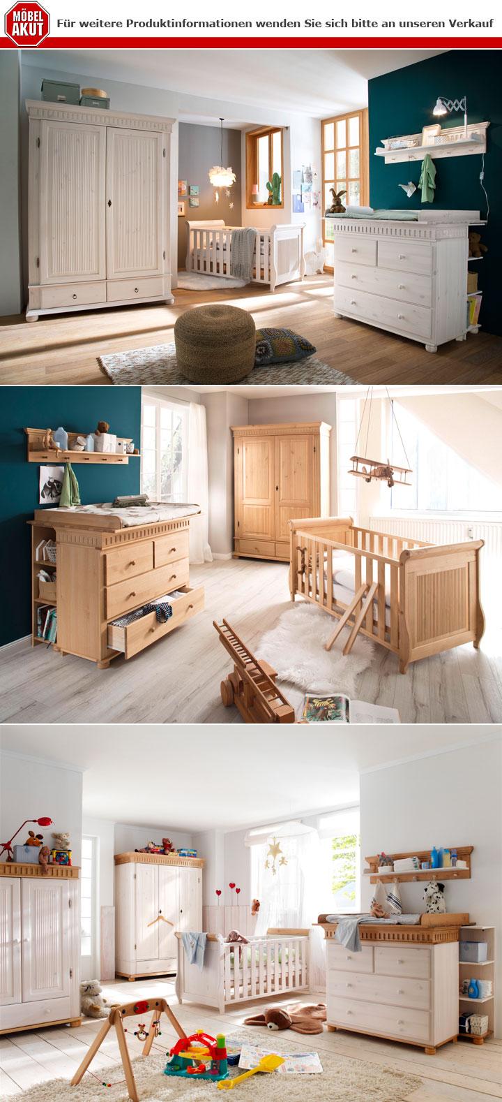 Babyzimmer Set Helsinki 4 Tlg In Kiefer Massivholz Natur