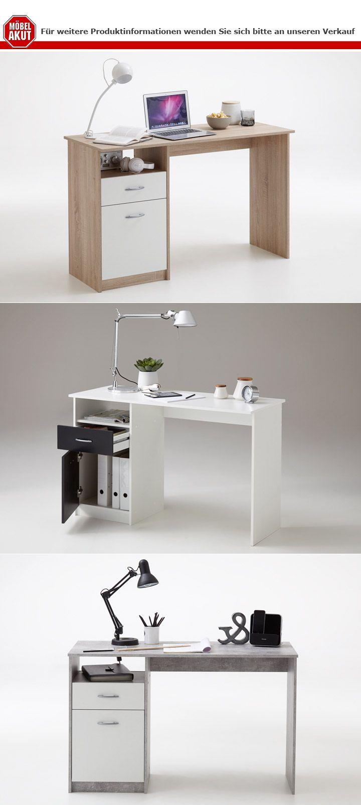 Schreibtisch Jackson Computertisch in 3 Farben erhältlich 123x50 cm ...