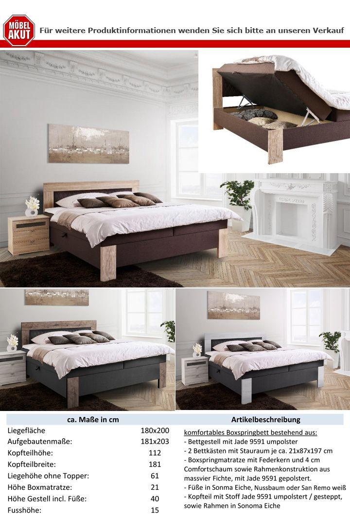 Boxspringbett Kiel Bett Hotelbett Farbauswahl 2 Stofffarben 3 ...