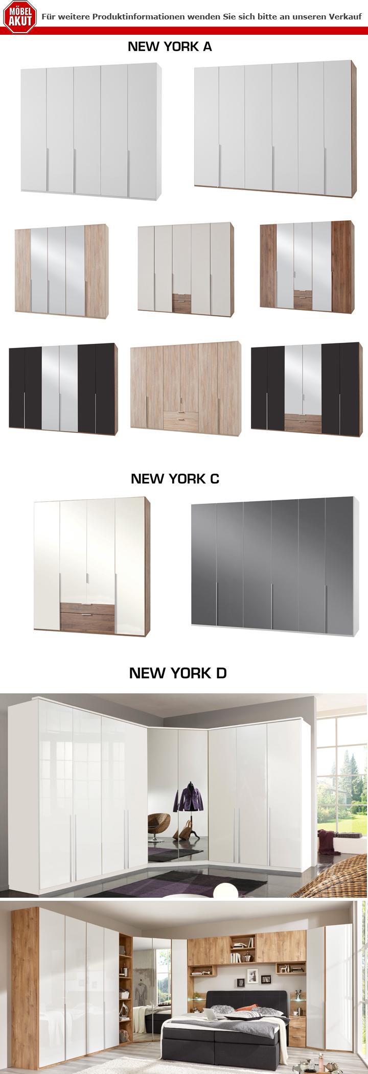 bettbr cke new york a bett berbau berbauschrank kleiderschrank in eiche hell ebay. Black Bedroom Furniture Sets. Home Design Ideas