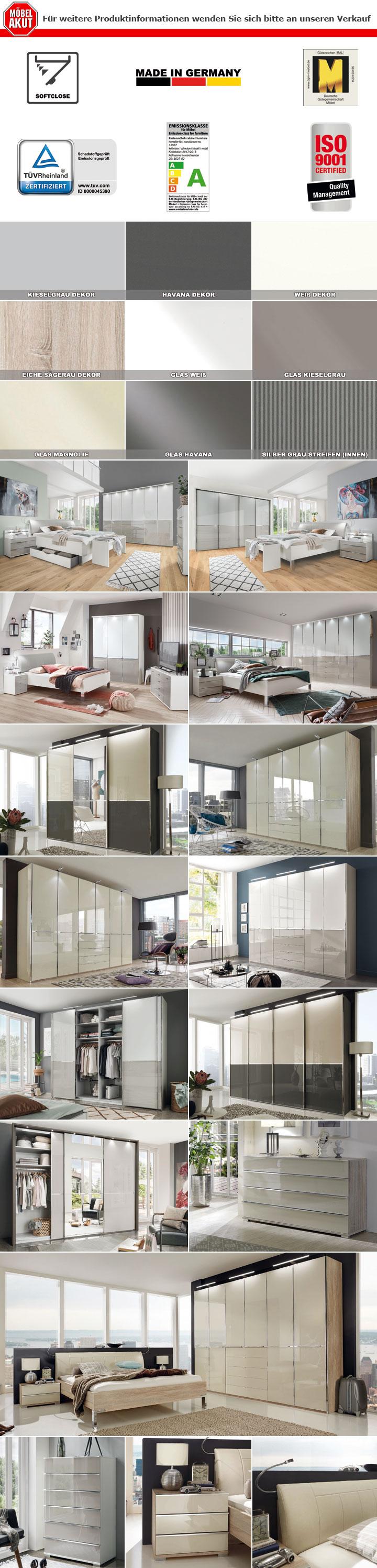 Kleiderschrank Shanghai Schrank Schlafzimmer in weiß und