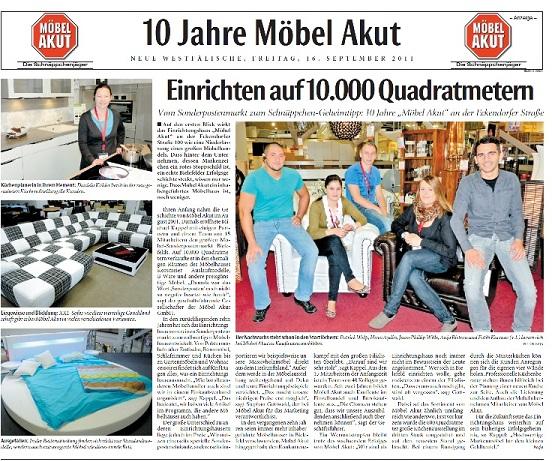 10 Jahre Möbel Akut