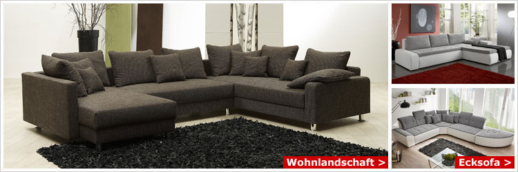 wohnlandschaft u form mit kopfst tzen bestseller shop. Black Bedroom Furniture Sets. Home Design Ideas