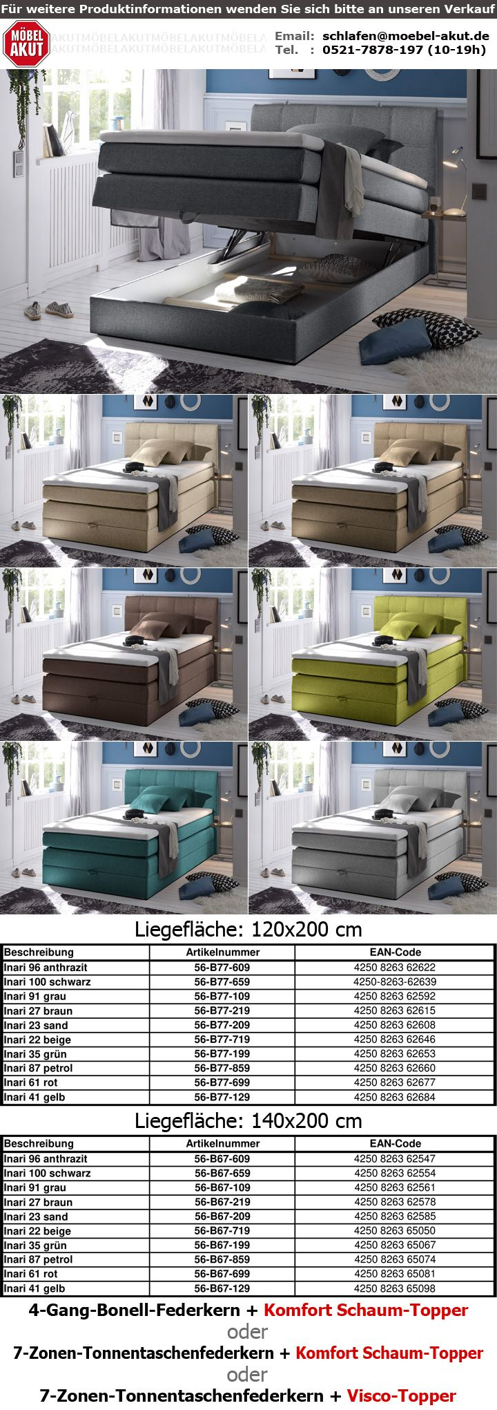 boxspringbett new bedford 1 stoff beige bonell federkern mit bettkasten 120x200 ebay. Black Bedroom Furniture Sets. Home Design Ideas