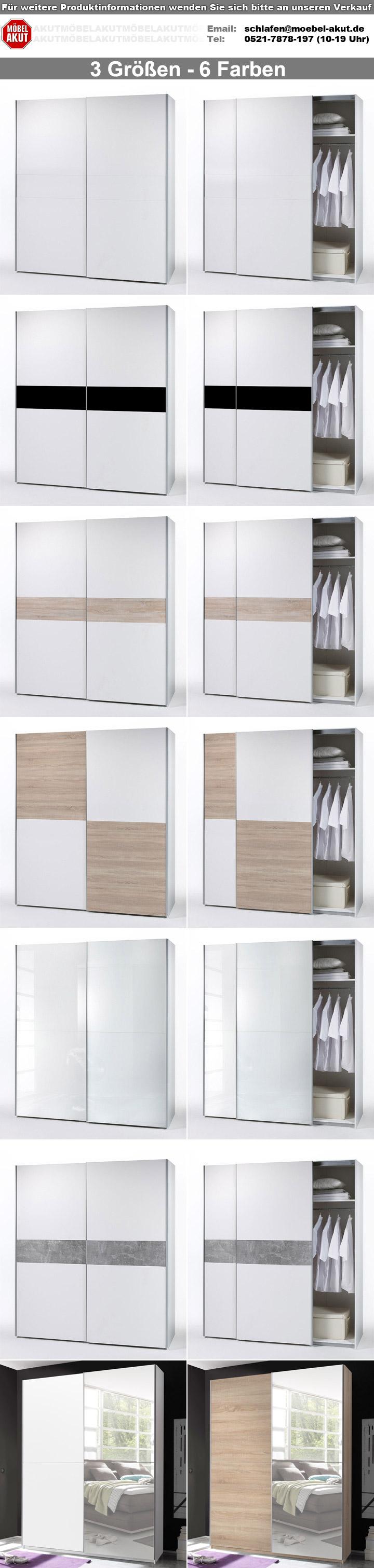 schwebet renschrank victoria 2 in eiche sonoma mit spiegel breite 170 cm. Black Bedroom Furniture Sets. Home Design Ideas