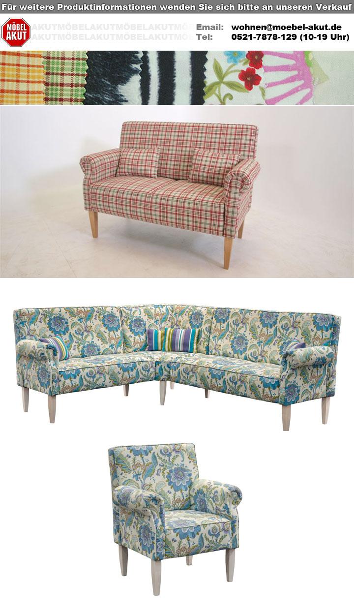 k chensofa antoni 2 sitzer in stoff rot und wei kariert. Black Bedroom Furniture Sets. Home Design Ideas