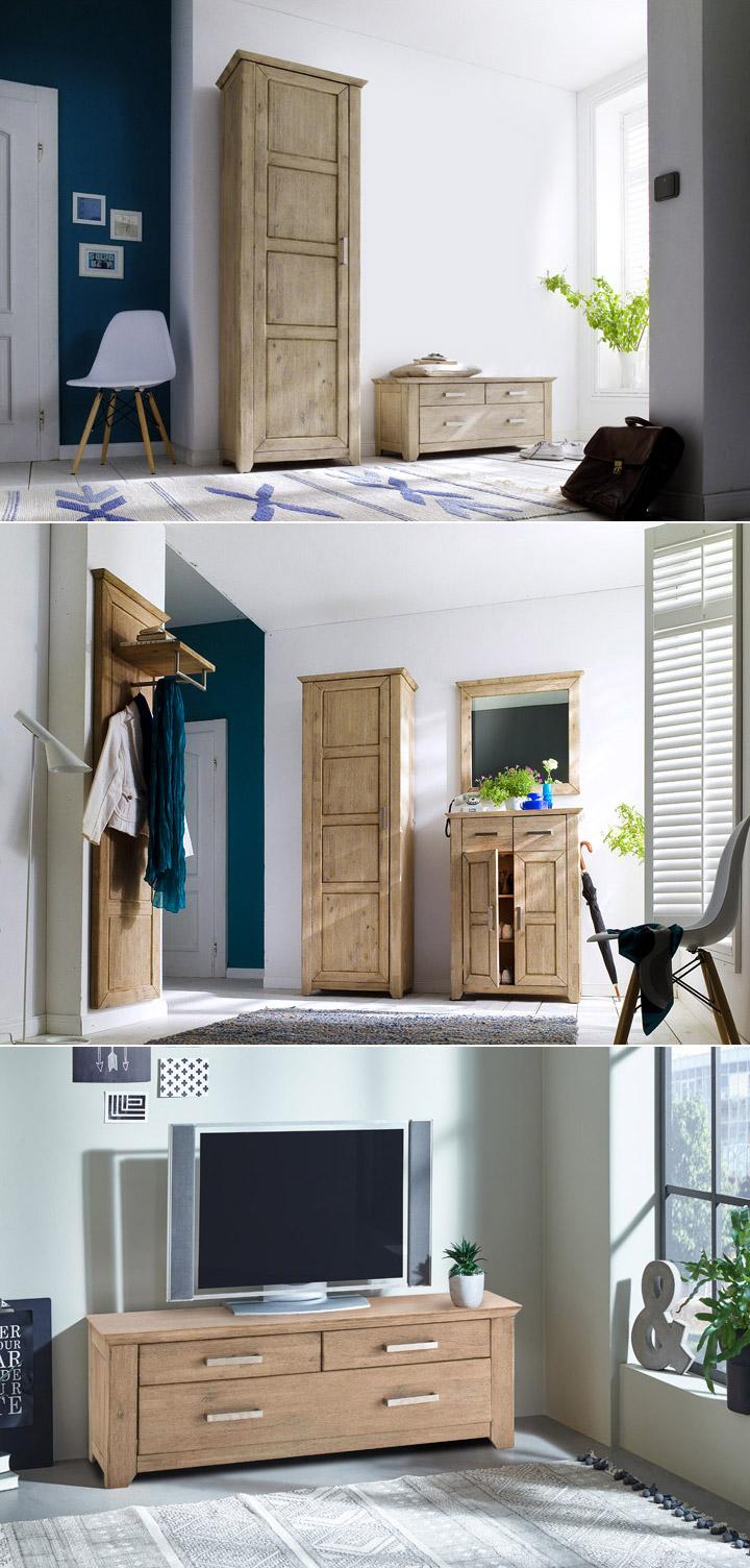 schuhschrank valencia schuhkommode flurm bel akazie massiv. Black Bedroom Furniture Sets. Home Design Ideas