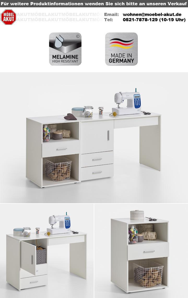 n hmaschinentisch angers n hmaschinenschrank tisch schrank in wei 119. Black Bedroom Furniture Sets. Home Design Ideas