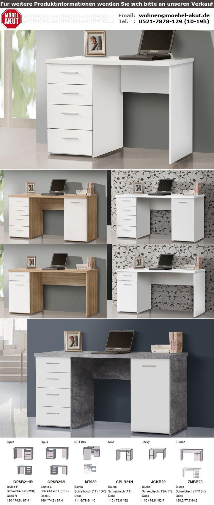 schreibtisch net106 b rotisch in sonoma eiche und wei matt 140x60 cm. Black Bedroom Furniture Sets. Home Design Ideas