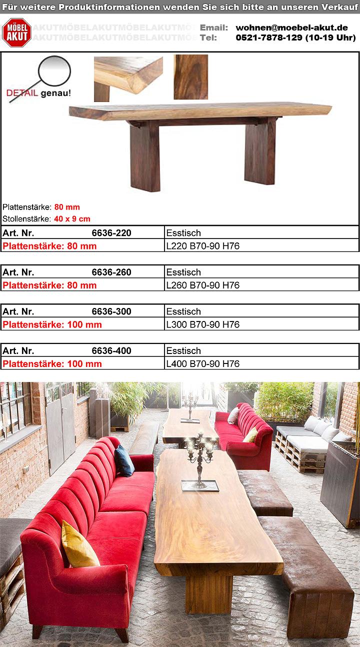 esstisch scout suar holz massiv gebeizt lackiert 220 cm. Black Bedroom Furniture Sets. Home Design Ideas