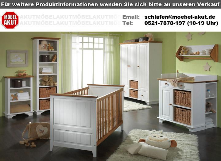 regal giulia standregal 97 cm hoch in kiefer wei massiv babyzimmer. Black Bedroom Furniture Sets. Home Design Ideas
