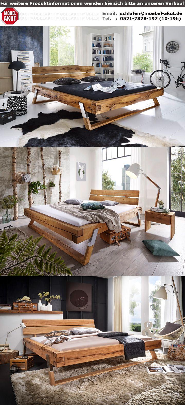 balkenbett gojo doppelbett bett in wildeiche fichte wildbuche massiv 180x200 cm ebay. Black Bedroom Furniture Sets. Home Design Ideas