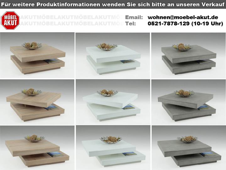 Couchtisch Ben In Weiß Tisch Platte 360 Drehbar