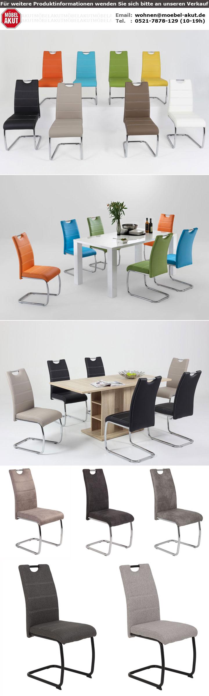 schwingstuhl 4er set flora stuhl freischwinger esszimmerstuhl in gelb. Black Bedroom Furniture Sets. Home Design Ideas