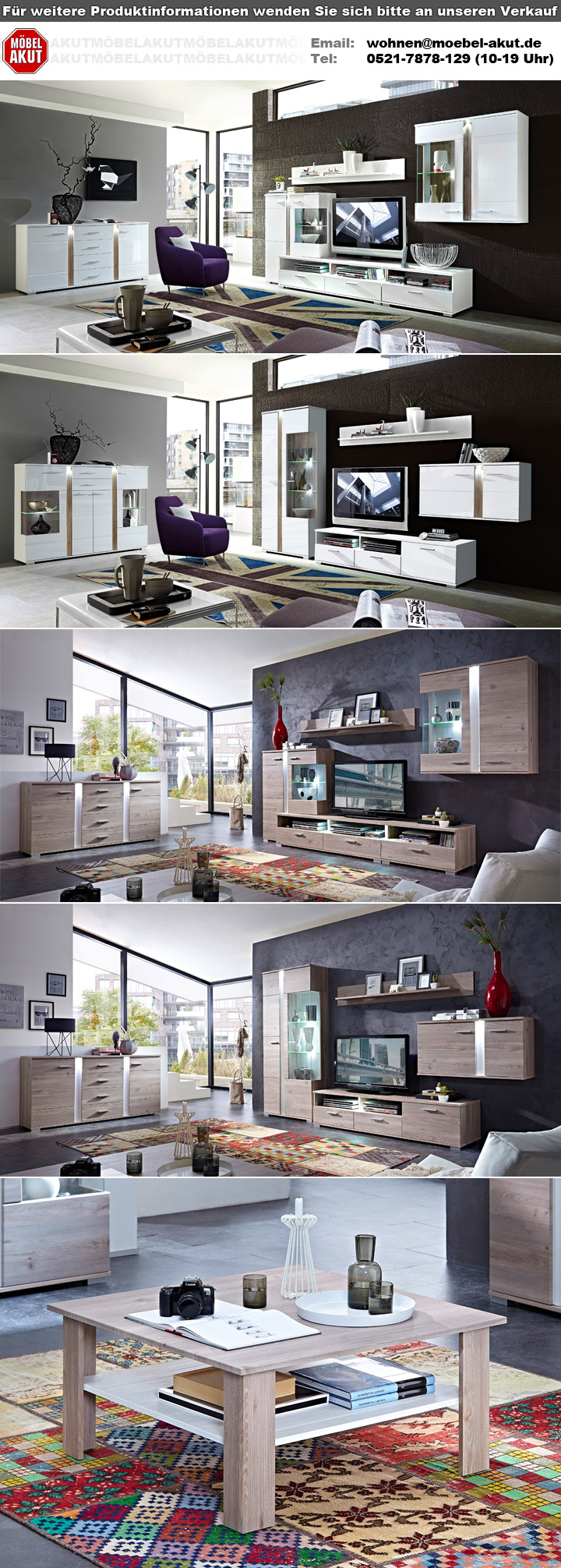 sideboard landhaus malibu in silbereiche mit led beleuchtung. Black Bedroom Furniture Sets. Home Design Ideas