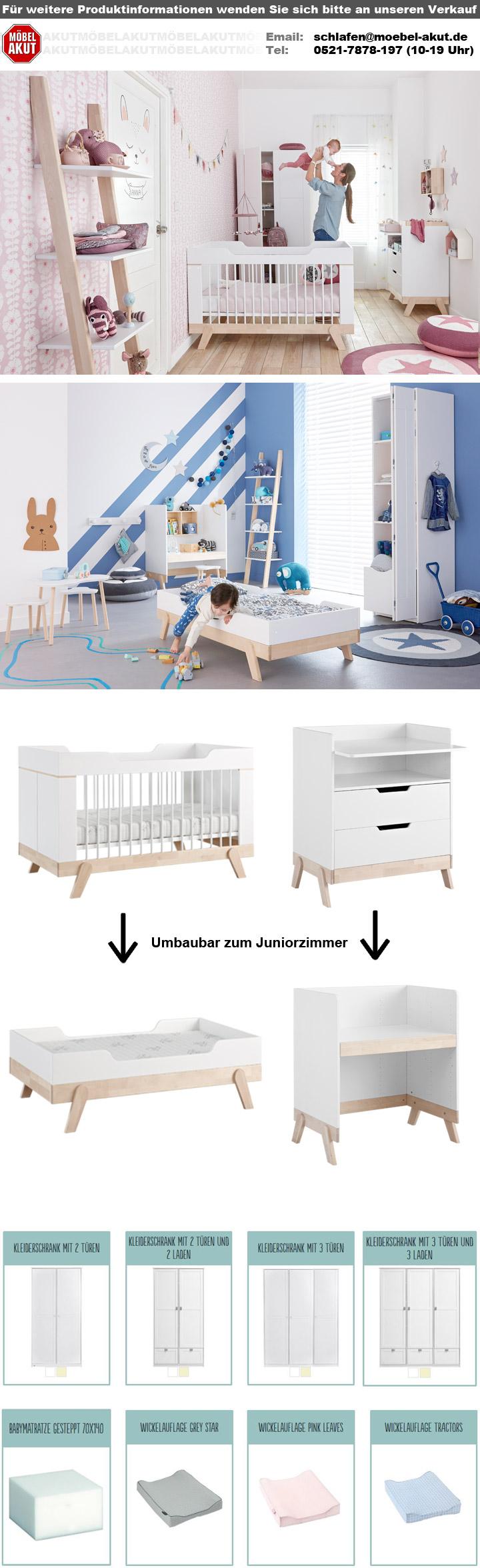 babybett life time gitterbett in birke massiv und wei umbaubar. Black Bedroom Furniture Sets. Home Design Ideas
