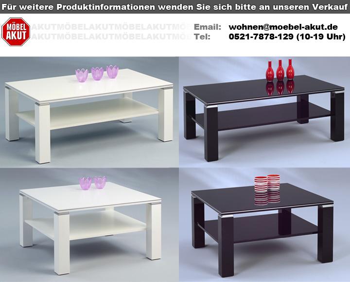couchtisch juri wei hochglanz mit aluminiumstreifen. Black Bedroom Furniture Sets. Home Design Ideas