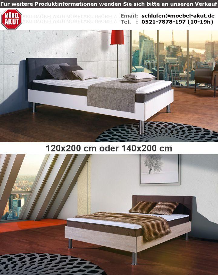 boxbett antox bett sonoma eiche und braun bonell mit topper 140x200 cm. Black Bedroom Furniture Sets. Home Design Ideas