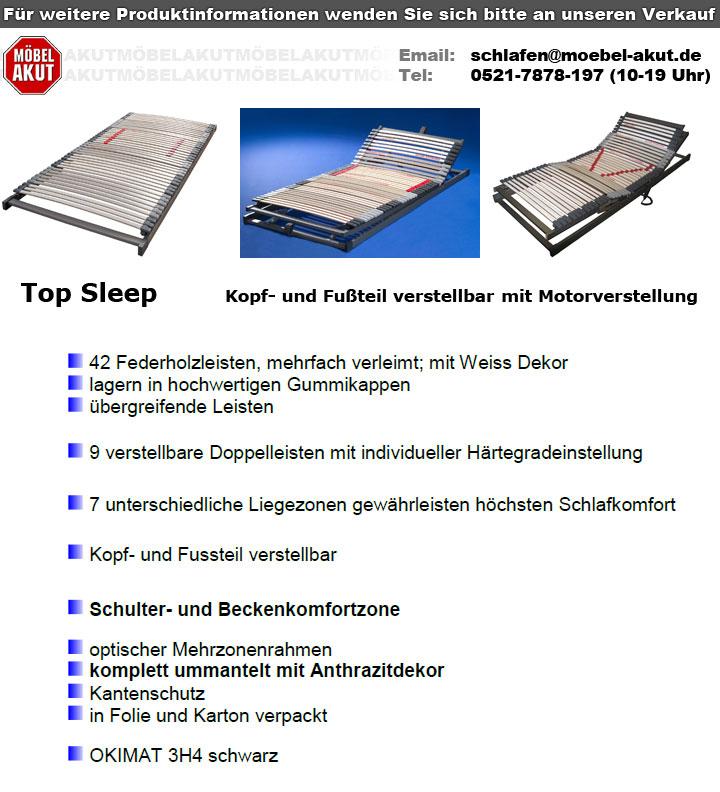 lattenrahmen 140x200 cm top sleep 7 zonen 42 leisten. Black Bedroom Furniture Sets. Home Design Ideas