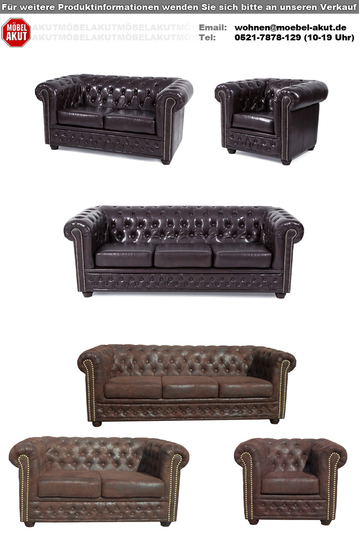 Sofa SHEFFIELD 2-Sitzer Couch Polstermöbel in Microfaser braun