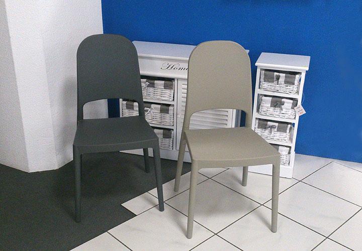 stuhl 2er set polly kunststoff grau k chenstuhl terrasse balkon garten. Black Bedroom Furniture Sets. Home Design Ideas