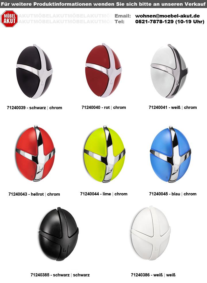 Top Garderobe TICK Spinder Design Wandgarderobe weiß und Chrom TR81