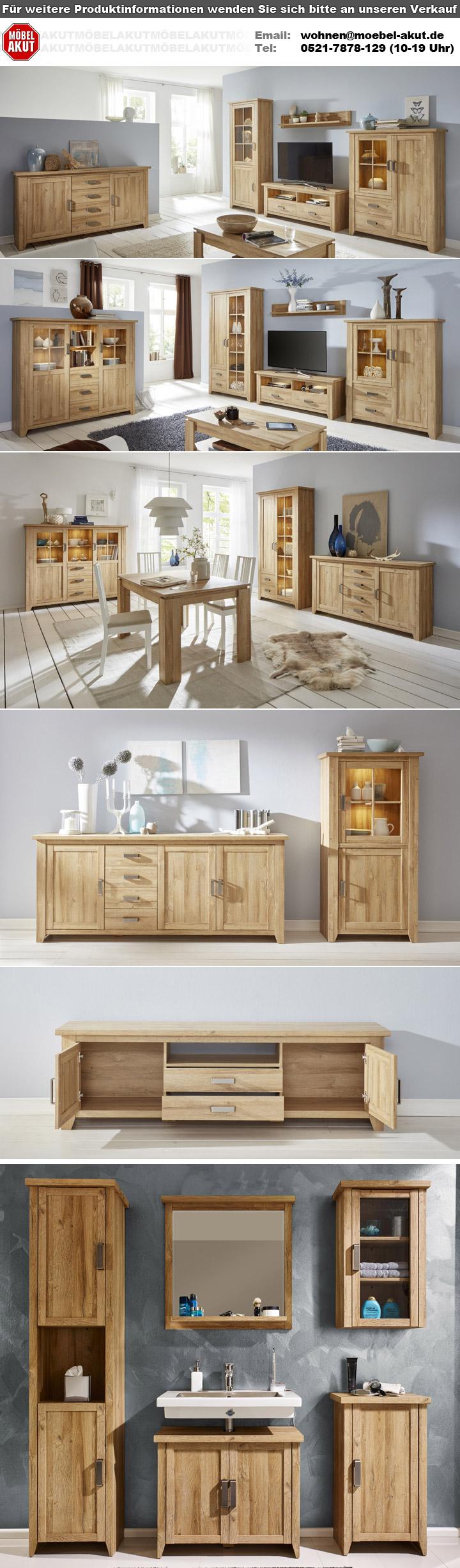 Esstisch CANYON Esszimmertisch Tisch in Alteiche ausziehbar 160-200 cm