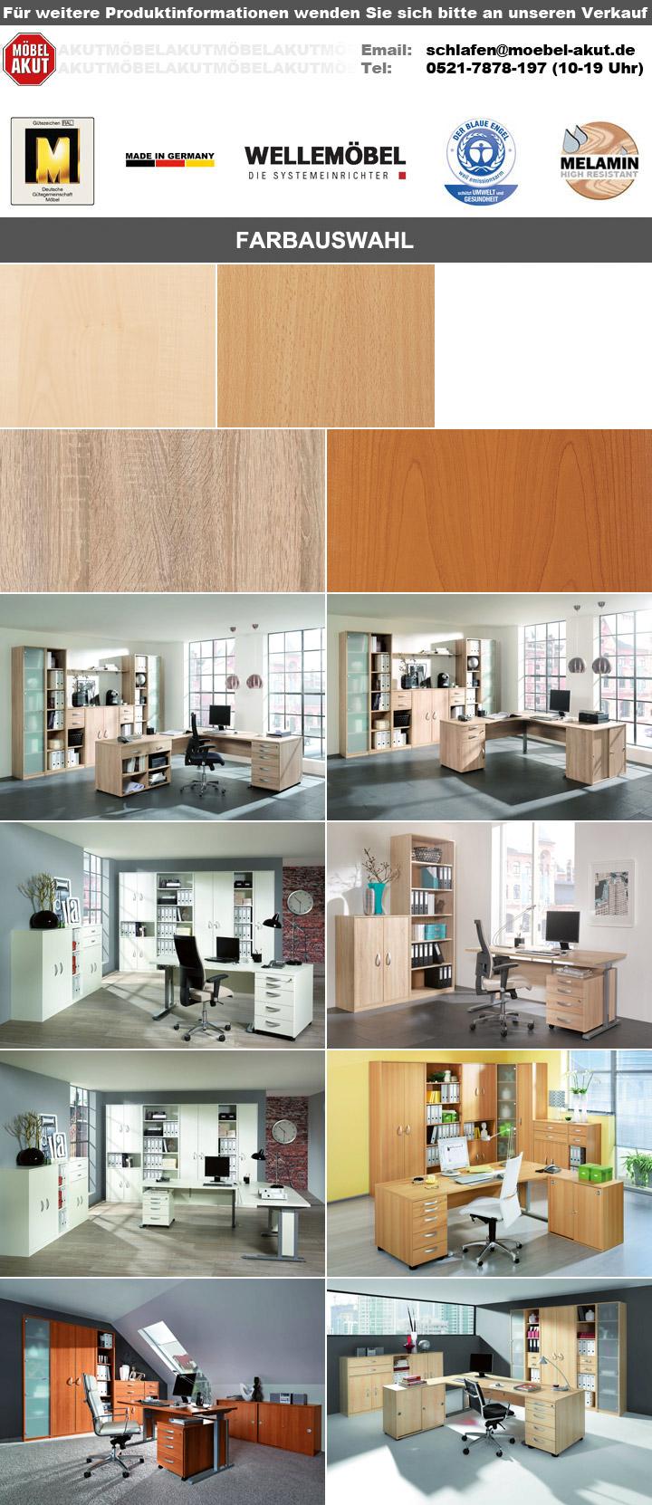 Buroset Jobexpress Home Office Buromobel In Weiss Von Wellemobel