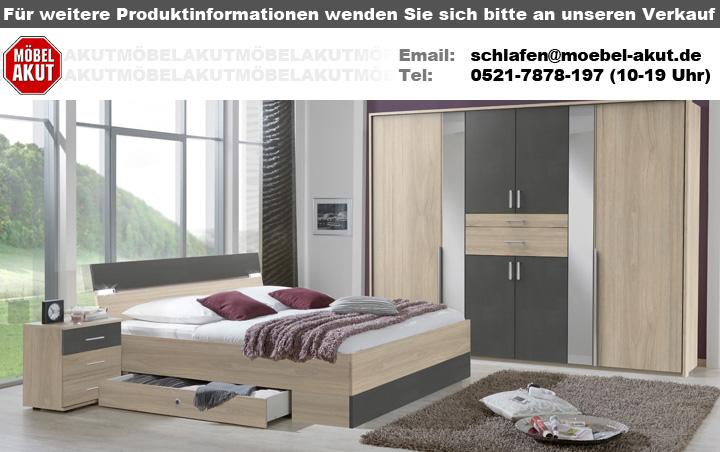 Kleiderschrank Xanten Drehturenschrank In Eiche Anthrazit Mit Spiegel