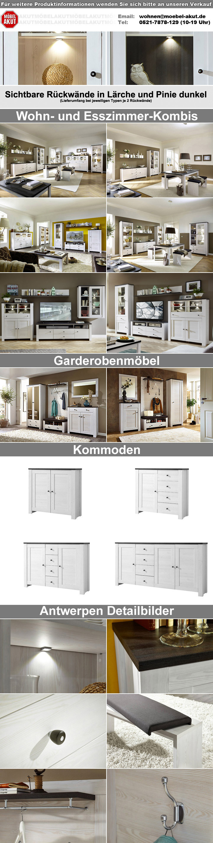 tv board antwerpen unterschrank l rche pinie dunkel 190. Black Bedroom Furniture Sets. Home Design Ideas
