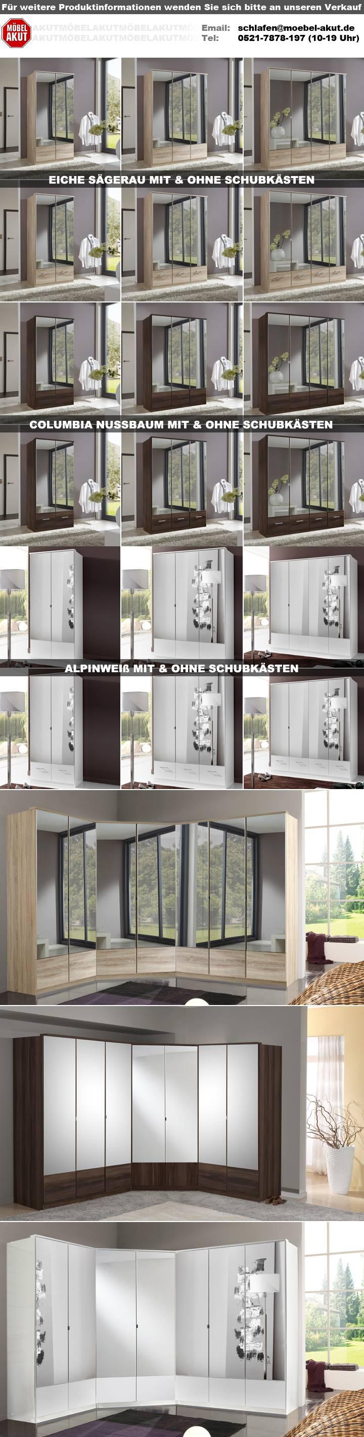 Kleiderschrank Imago Schrank Schlafzimmerschrank Eiche Sagerau 90 Cm